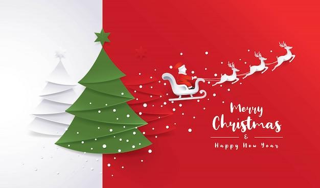 Banner de arbol de navidad