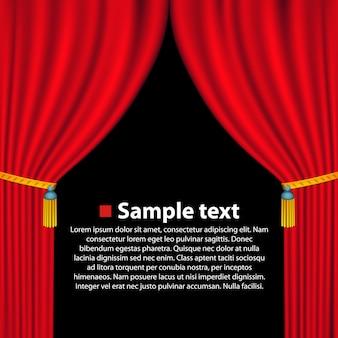 Banner de arte de fondo de cortina de teatro. ilustración vectorial