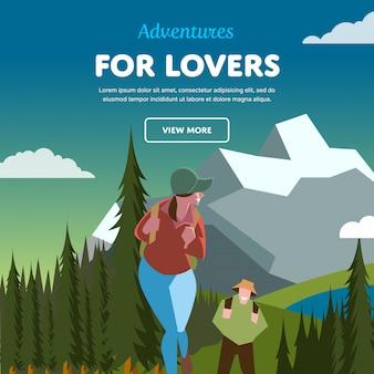 Banner de aventuras para amantes