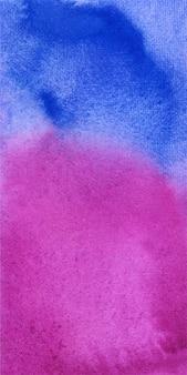 Banner azul y magenta fondo abstracto acuarela