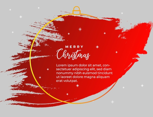 Banner de bienvenida roja para navidad