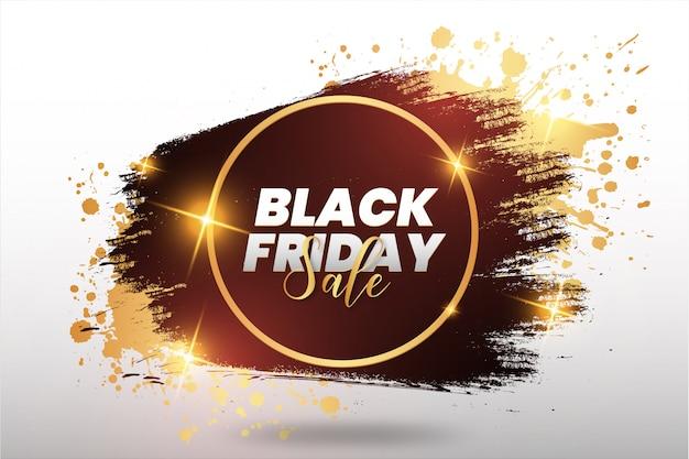Banner de bienvenida del viernes negro dorado