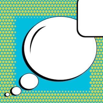 Banner en blanco de estilo cómic pop art.