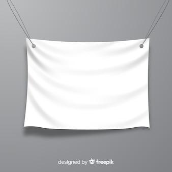 Banner blanco de tela