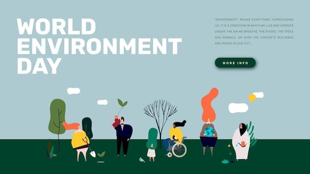 Banner de blog de plantilla del día mundial del medio ambiente