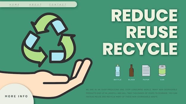 Banner de blog de plantilla de sostenibilidad ambiental