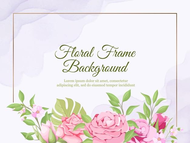 Banner de boda telón de fondo diseño floral de verano