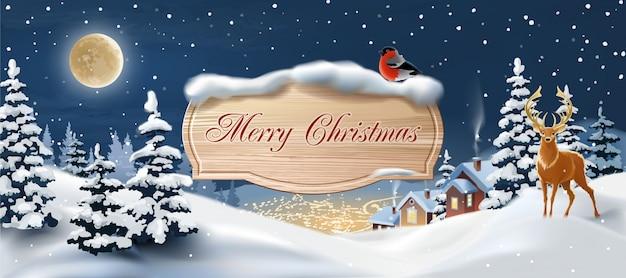 Banner bonito de navidad