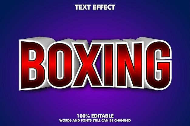 Banner de boxeo - efecto de texto 3d editable