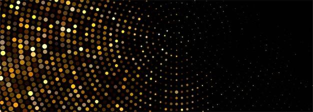 Banner de brillos dorados brillantes de lujo