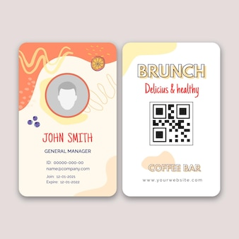 Banner de brunch delicioso y saludable