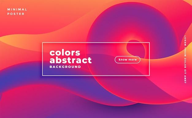 Banner de bucle saturado colorido abstracto