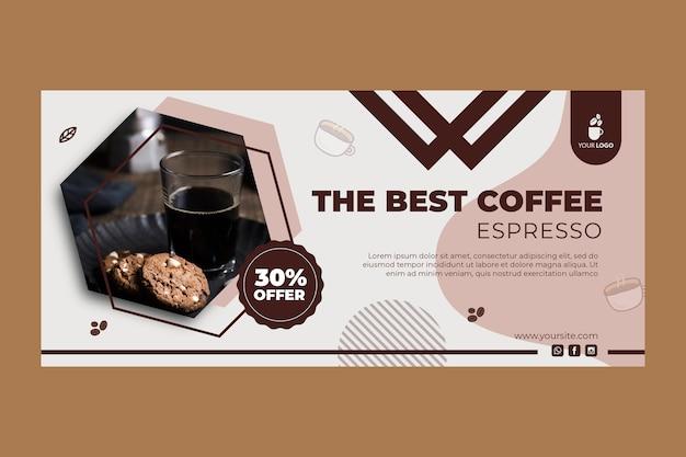 Banner para cafetería