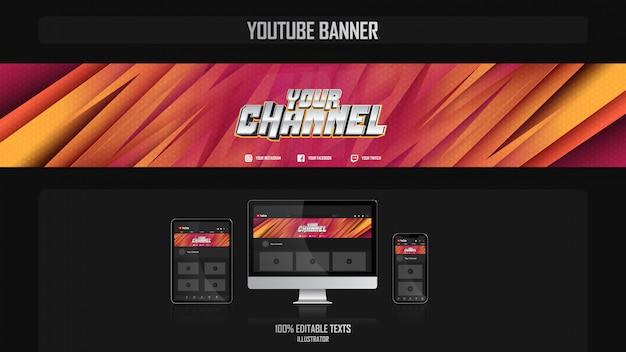 Banner para canal de redes sociales con concepto aeróbico