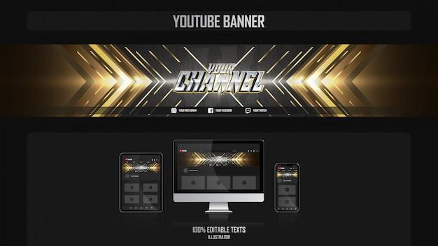 Banner para canal de redes sociales con concepto de lujo