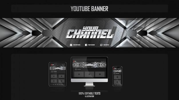 Banner para canal de redes sociales con concepto de música