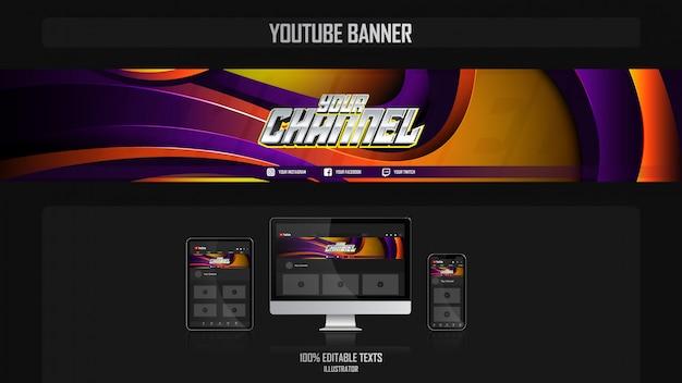 Banner para canal de redes sociales con music concep