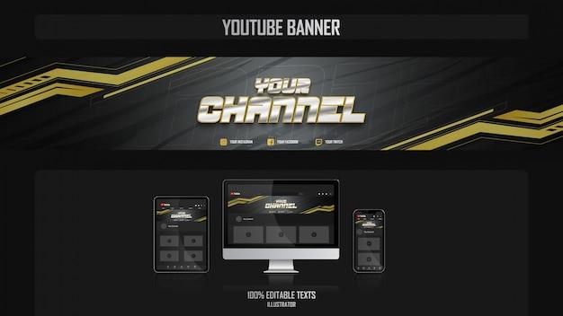 Banner para canal de youtube con concepto crossfit