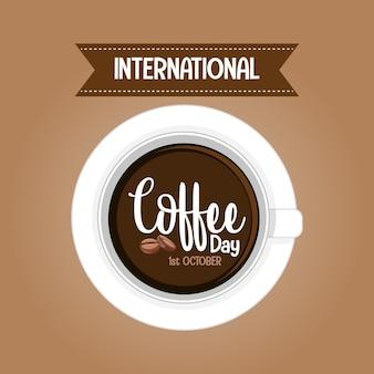 Banner de carta del día internacional del café