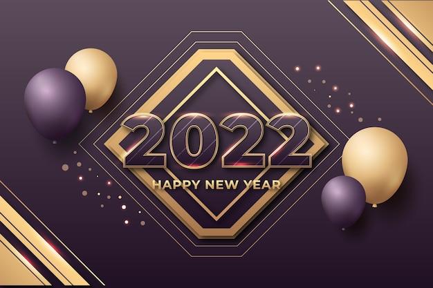 Banner de celebración de año nuevo 2022
