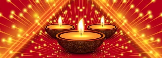 Banner de celebración creativa feliz diwali