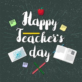 Banner de celebración del día de los maestros felices