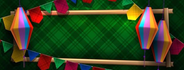 Banner de celebración de festa junina