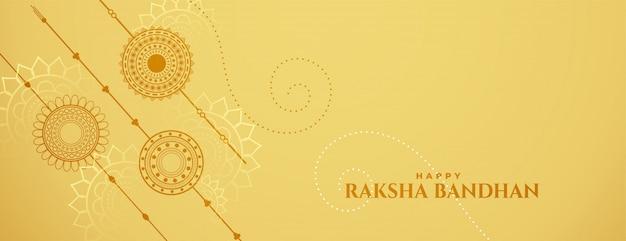 Banner de celebración de raksha bandhan con rakshi