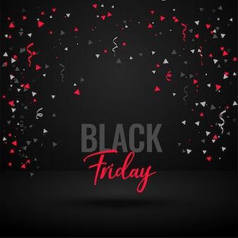 Banner de celebración de viernes negro con confeti
