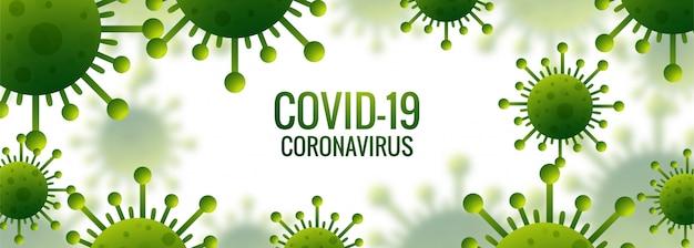 Banner de células de coronavirus