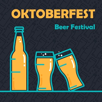 Banner de la cerveza oktoberfest