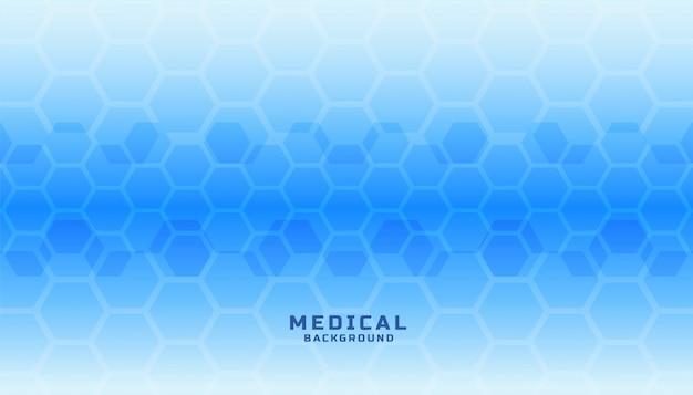 Banner de ciencia médica con formas hexagonales