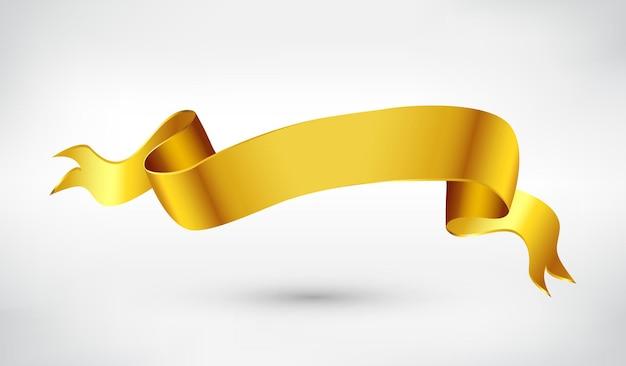 Banner de cinta dorada
