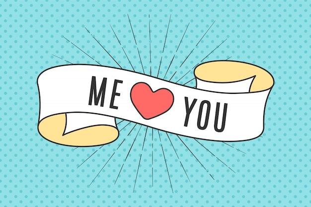 Banner de cinta con texto tu y yo