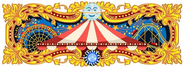 Banner de circo de carnaval
