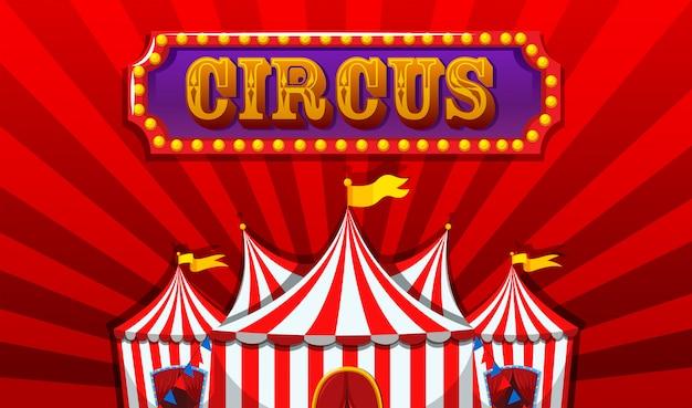 Un banner de circo de fantasía.