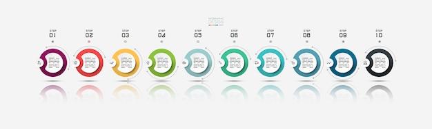Banner de círculo para infografías