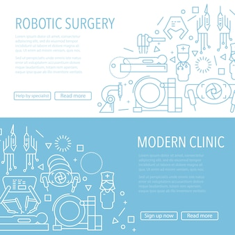 Banner de cirugía robótica