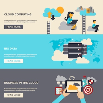 Banner de cloud computing