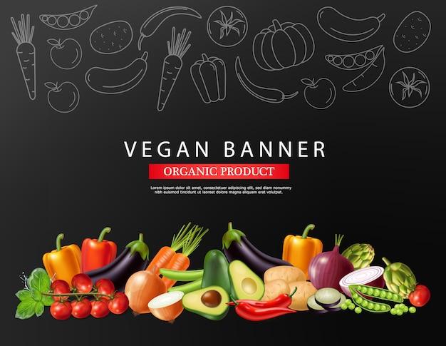 Banner de colección de verduras