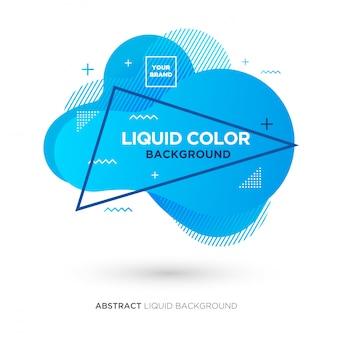 Banner de color azul líquido abstracto