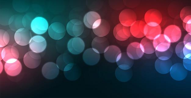Banner colorido bokeh vibrante con efecto de luz