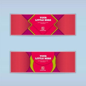 Banner colorido vector