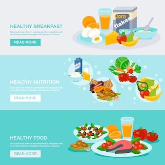 Banner de comida saludable