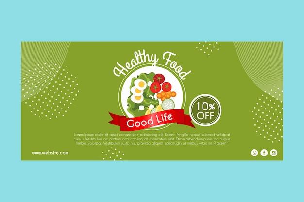 Banner para comida saludable