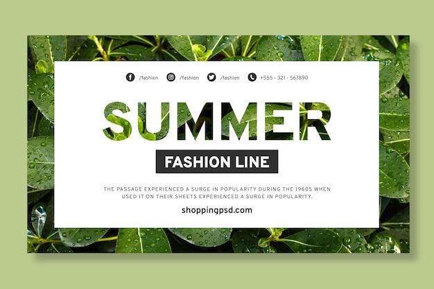 Banner de compras en línea