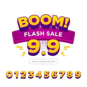 Banner de compras de venta flash