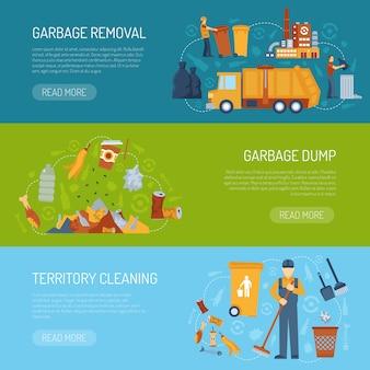 Banner de concepto de basura