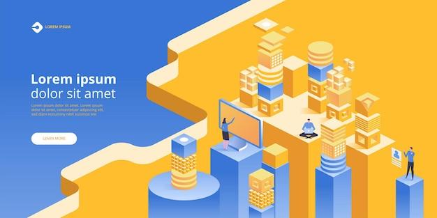 Banner de concepto blockchain