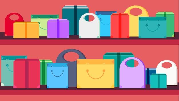 Banner de concepto de compras
